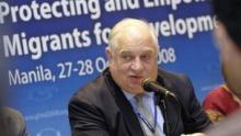 Nation destroyer Peter Sutherland's global migration forum