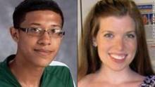 Beast Philip Chisolm with the young White math teacher Colleen Ritzer, whom he murdered.
